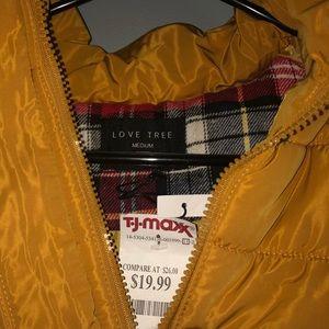 Brand New Mustard Winter/Fall Vest